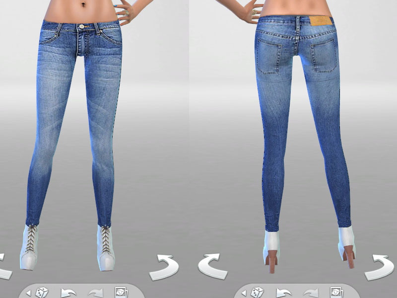 Low Rise Skinny Denim 02 BY Pinkzombiecupcakes