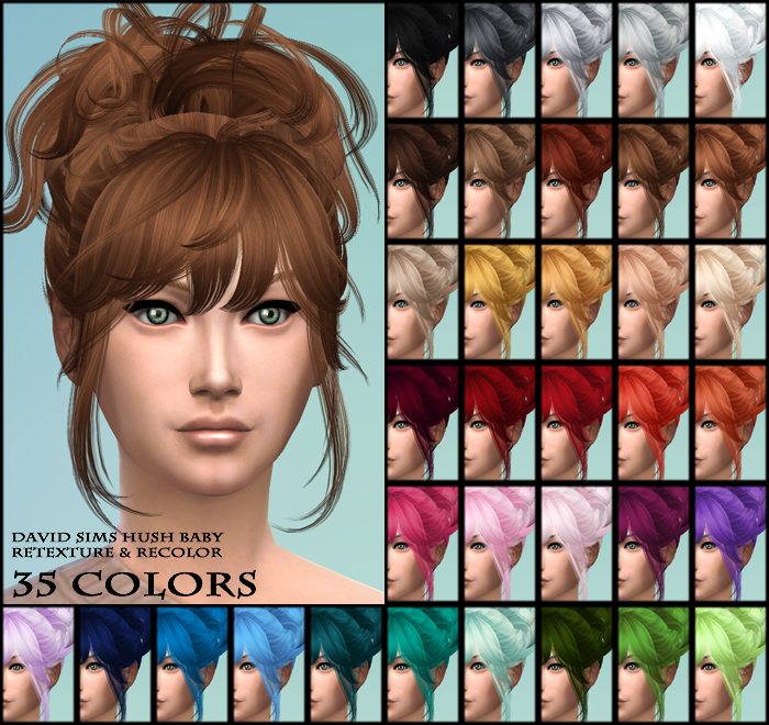David Sims Hush Baby Retexture in 35 Colors by MaheshaSims