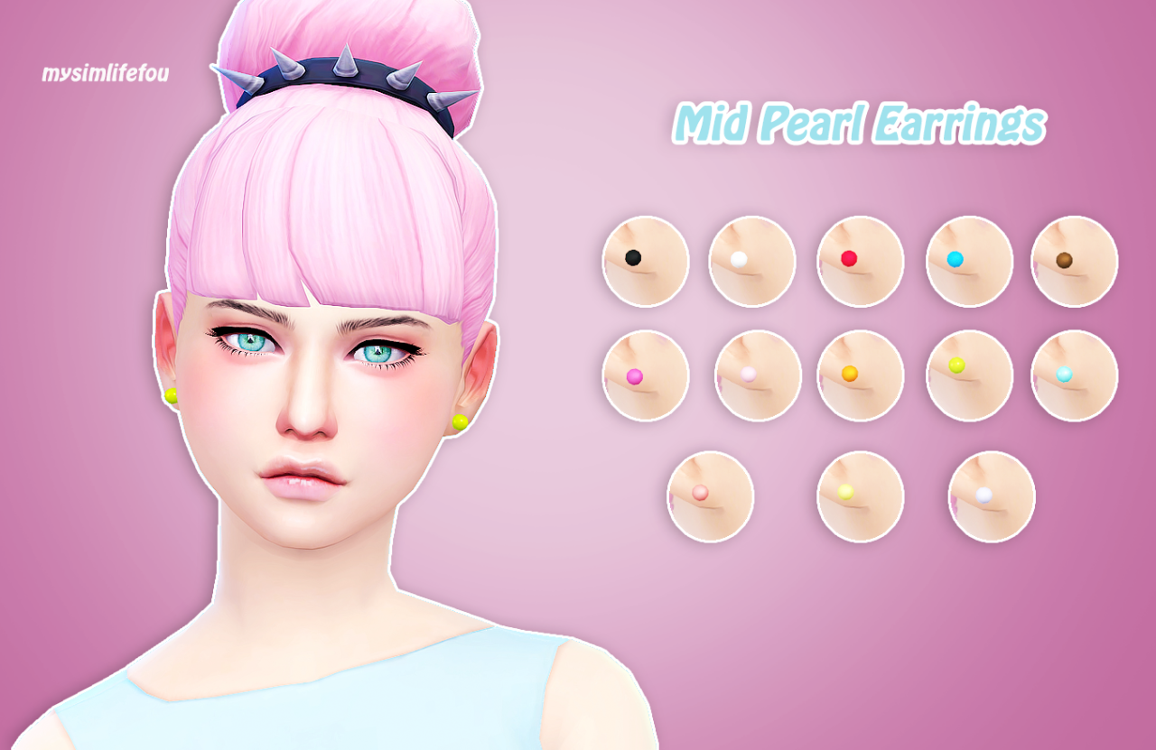 Pearl Earrings by Mysimlifefou