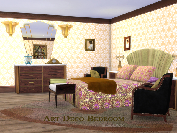 Art Deco Bedroom by ShinoKCR