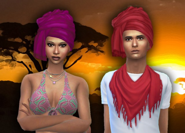 TS3 African Inspiration Conversion for Males & Females by Kiara24