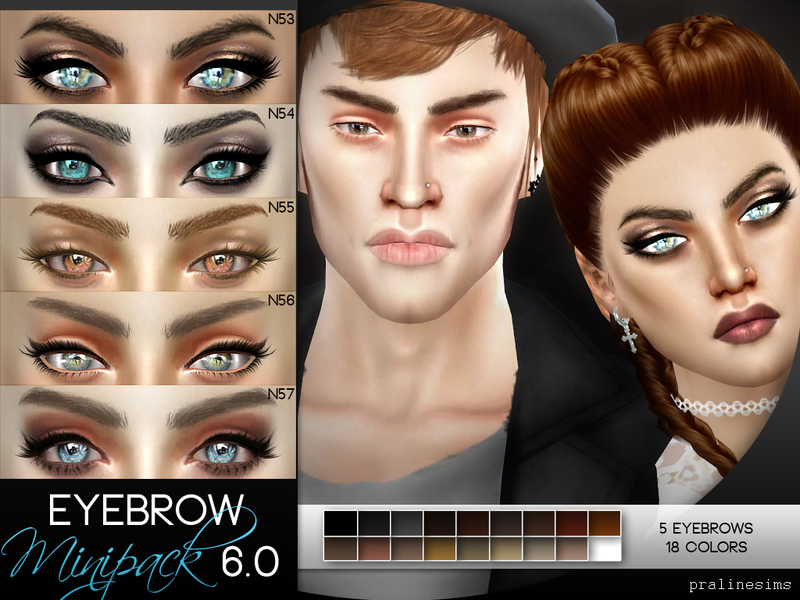 Eyebrow Minipack 6.0 ~ 5 Eyebrows BY Pralinesims