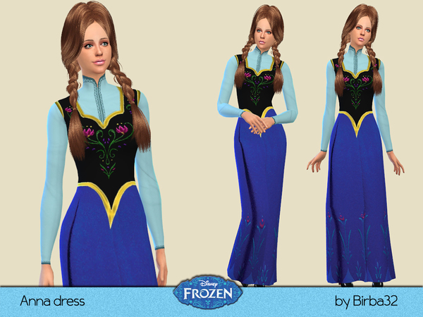 Frozen - Anna's dress by Birba32
