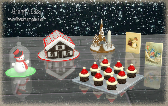 """Merry Christmas!"" Set for TS4 by Granny Zaza"