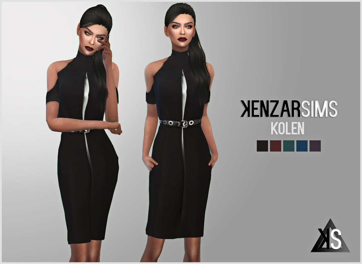 KENZAR- KOLEN DRESS