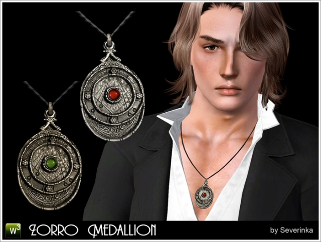 Zorro Medallion necklace by Severinka