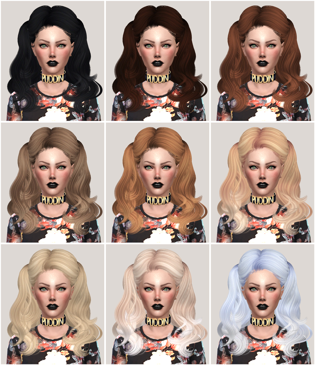 salem2342 NewSea Hair YU104f Retexture and Edit (TS4)