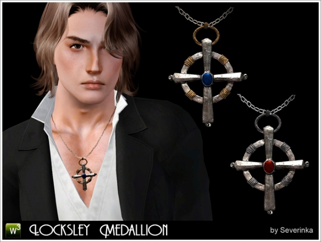 Locksley Medallion necklace by Severinka