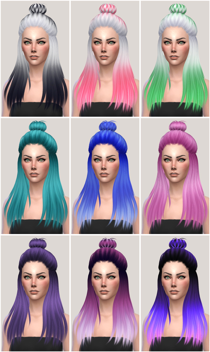 salem2342 Sintiklia Hair s16 Eliza Retexture and Alpha Edit (TS4)