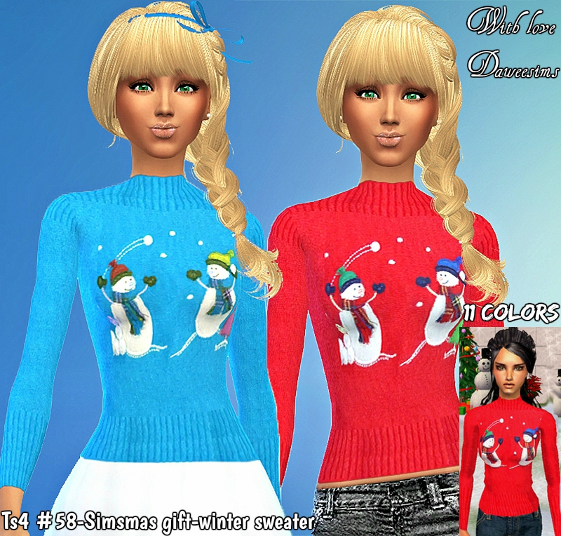 Ts4 #58-Simsmas gift-winter sweater by Daweesims