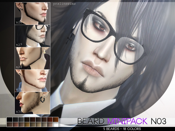 Beard Minipack 3.0 ~ 5 Beards by Pralinesims