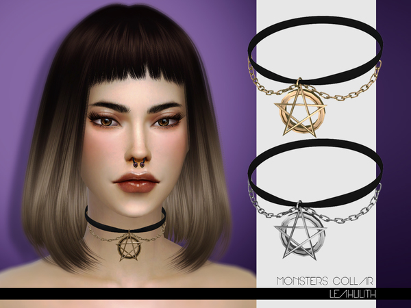 LeahLilith Monsters Collar