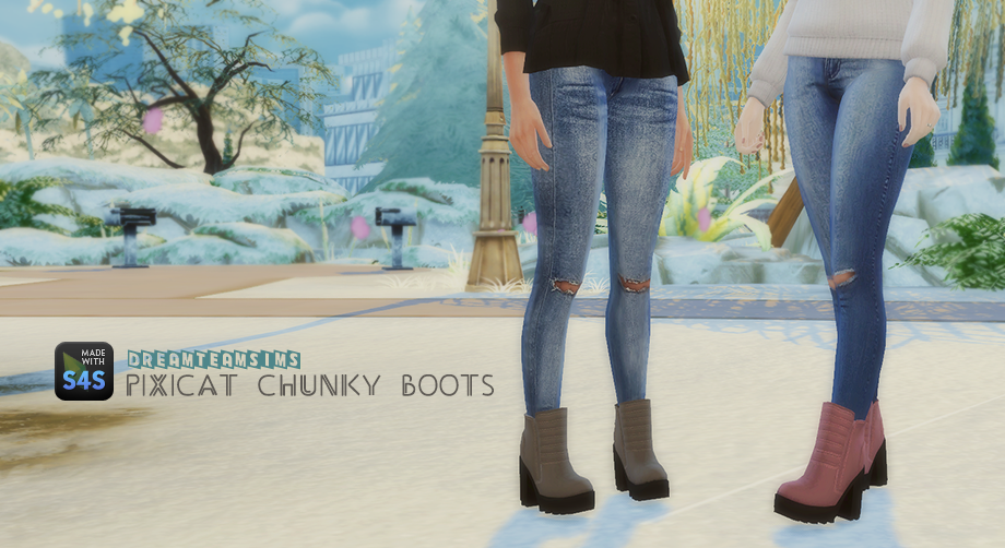 TS3 Pixicat Chunky Boots Conversion by DreamTeamSims