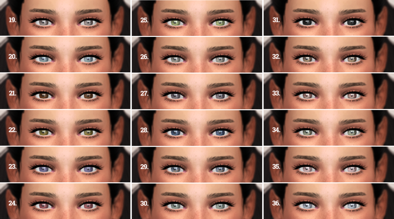 Default and Non Default Eyes by ReticulatedSplines