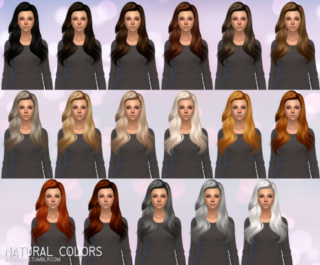Butterflysims Hair 144 - Retexture by Aveira