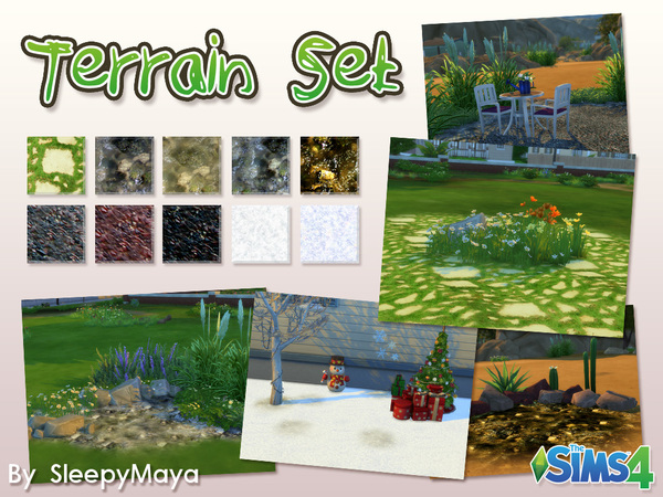 Terrain Set - 10 Pieces by SleepyMaya