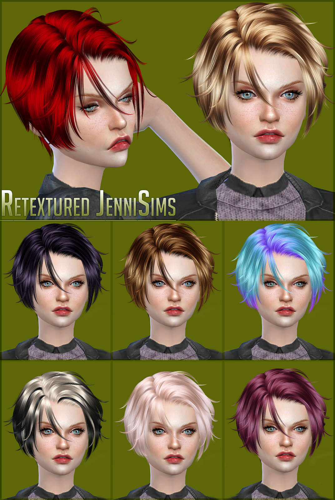 Newsea Footprint Hair Retexture by JenniSims