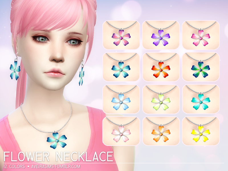 Flower Necklace by AveiraSims