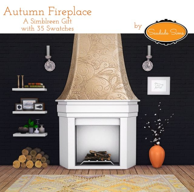 Autumn Fireplace by SaudadeSims