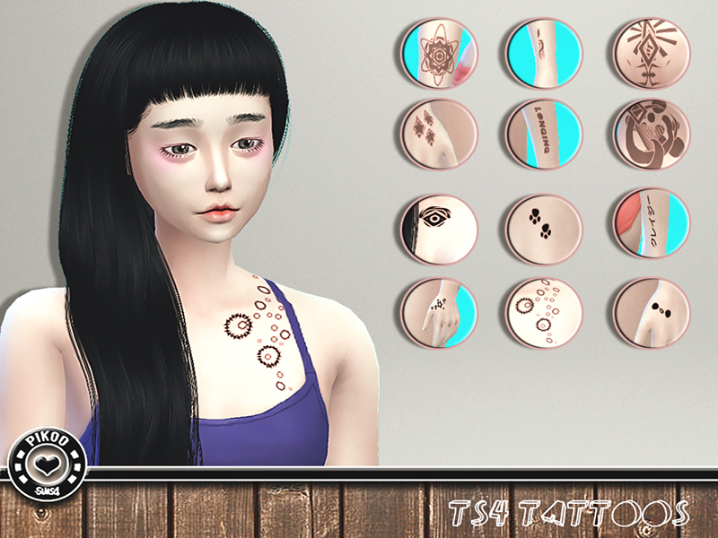 [TS4]_PikooTattoos01  BY pikoo