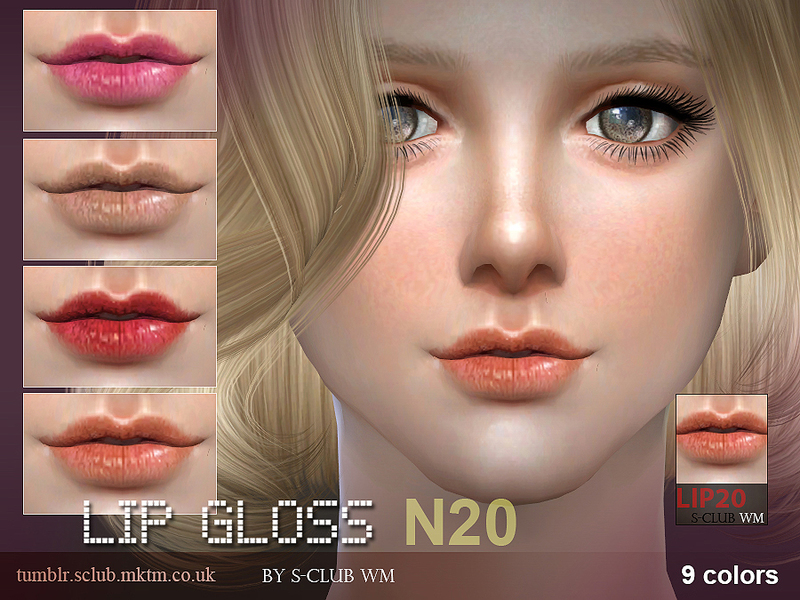 S-Club WM thesims4 Lipstick 20