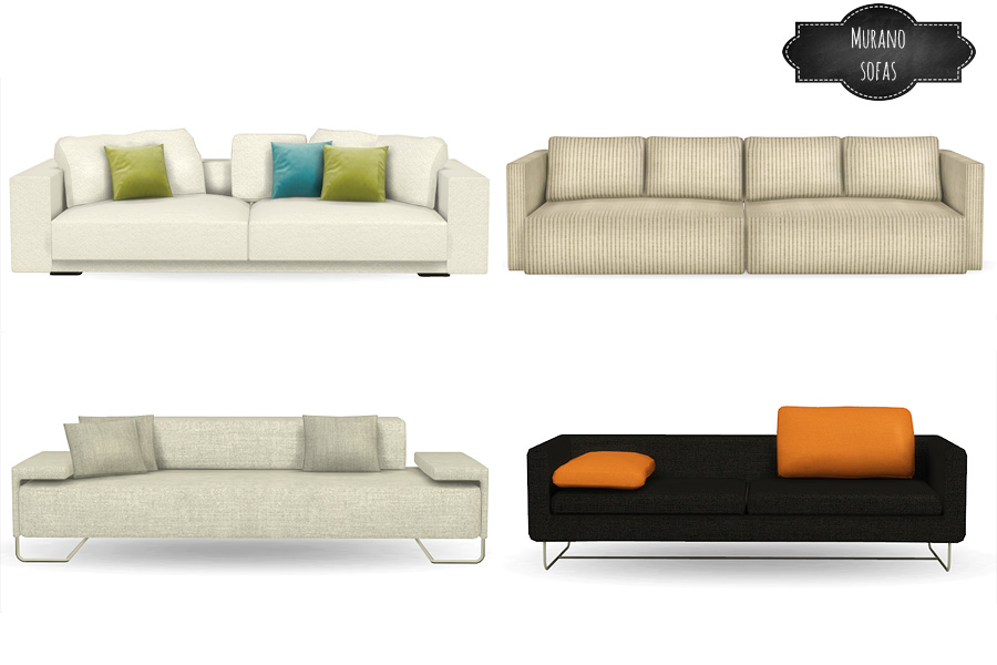 Murano sofas conversions by MioSims