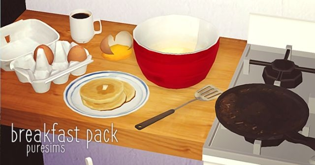 Breakfast Set by PureSims