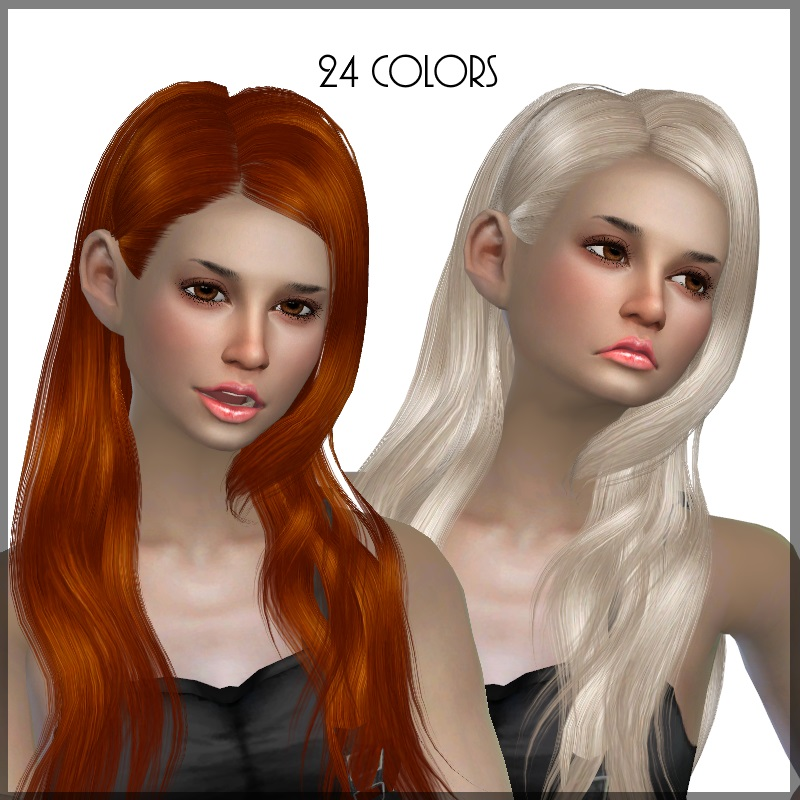 Butterflysims 147 Hair Retexture in 24 Colors by Dachs