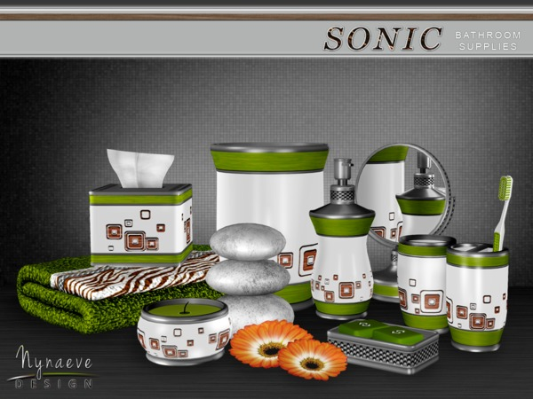 Sonic Bathroom Supplies by NynaeveDesign