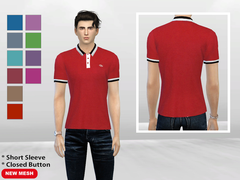 Dippin Color Closed-Button Polo  BY McLayneSims