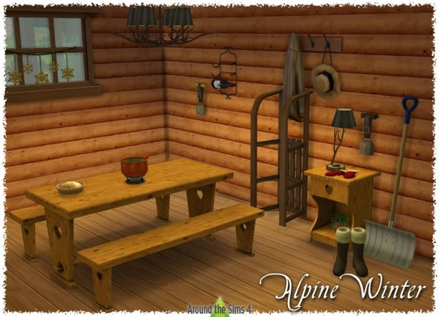 Alpine Winter Dining-Room by Sandy