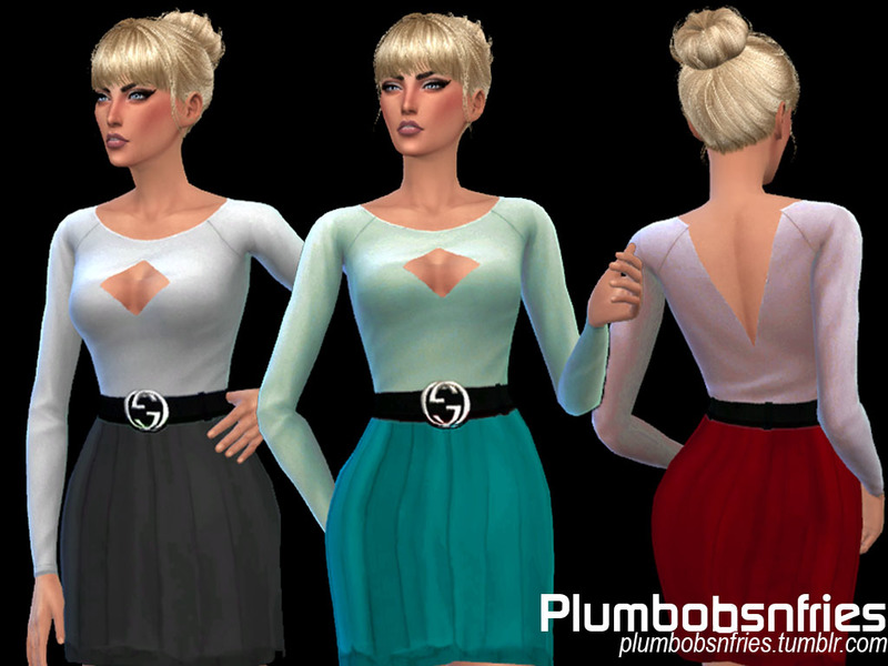 Monica  Dress 01  BY Plumbobs n Fries