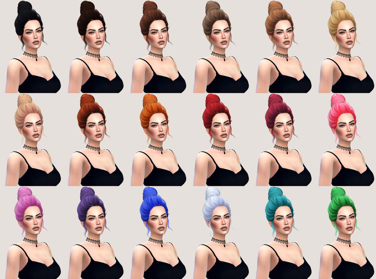 salem2342 Skysims Hair 72 Amily Retexture (TS4)