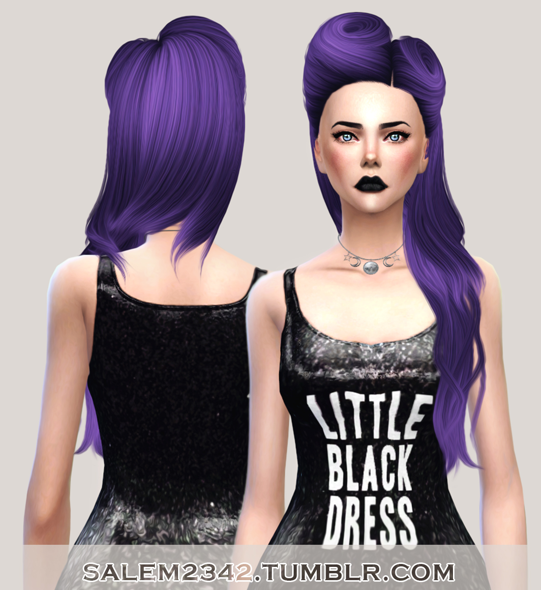 salem2342 Nightcrawler Hair 21 Retexture, Converted by David (TS4)