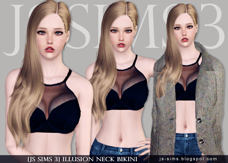Illusion Neck Bikini от JS SIMS3