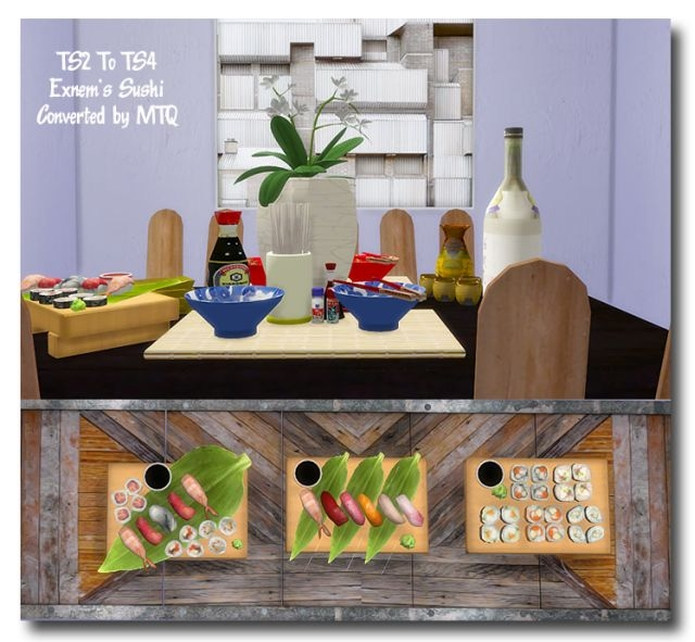 TS2 Exnem Sushi Conversions by MsTeaQueen