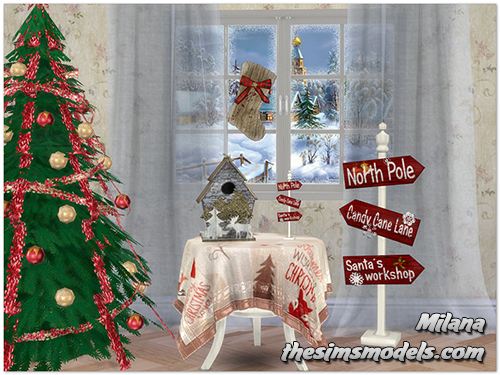 """Merry Christmas!"" Set for TS4 by Milana"