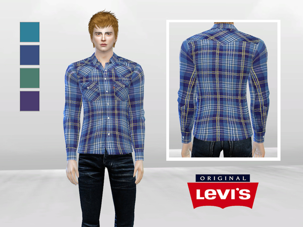 His First Date Plaid Shirt by McLayneSims
