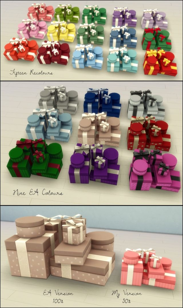 Resized Gift Stack in 15 Recolors by Martine
