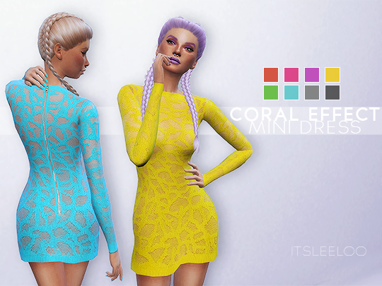 Coral Effect Mini Dress by ItsLeeloo