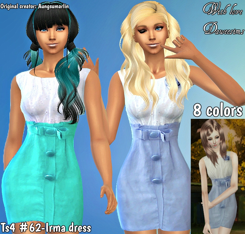 Ts4 #62-Irma dress by Daweesims