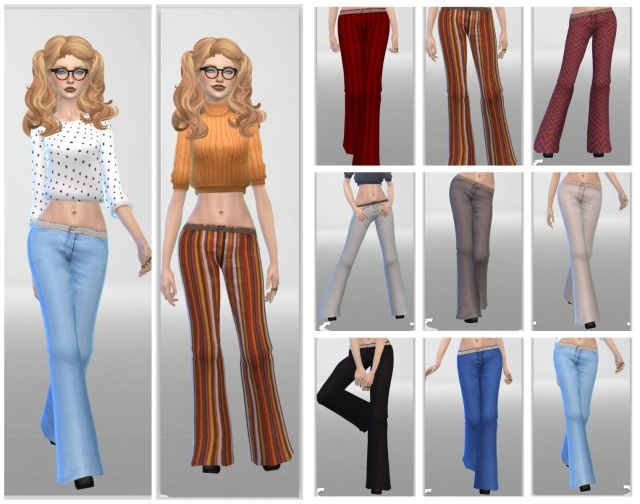 Funky Flares Jeans for Females by Annabellee25
