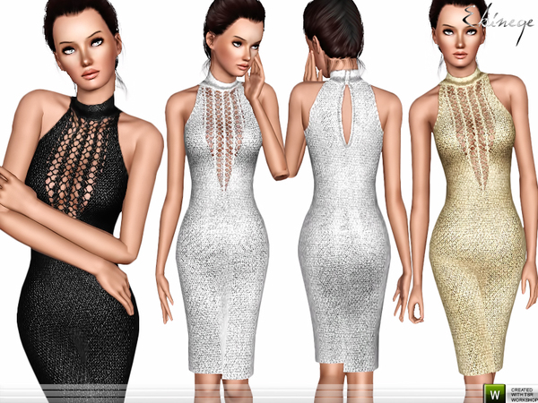 Metallic Knit Dress by ekinege