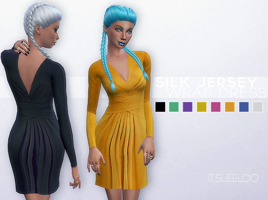 SILK JERSEY WRAP DRESS By  LEELOO