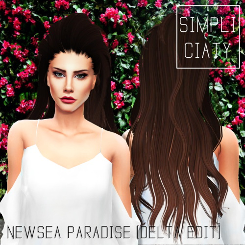 CONVERSION OF DELTASIMS EDIT OF NEWSEA PARADISE HAIR by  SIMPLICIATY