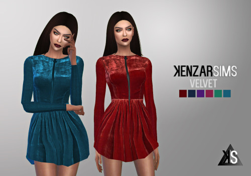 KENZAR-VELVET-DRESS