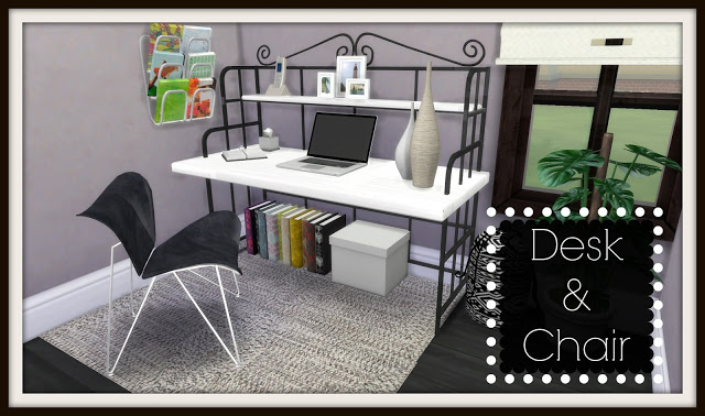 TS2 to TS4 - Office: Desk & Chair by DinhaGamer