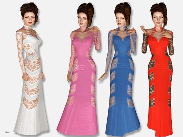 Long Lace Gown by pizazz