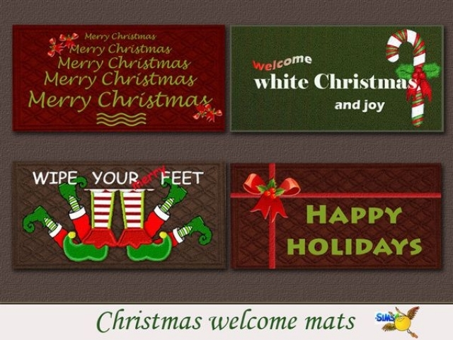 Christmas welcome mat by Evi