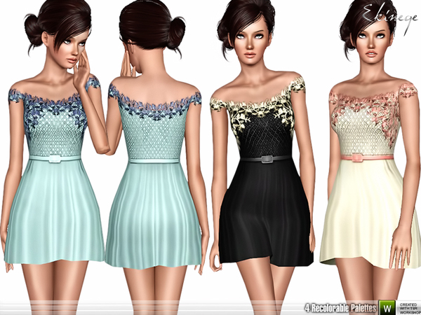 Short Off The Shoulder Dress by ekinege